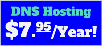 DNS Hosting $7.95 per year